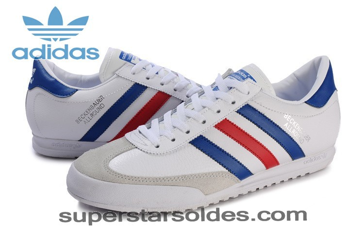 chaussures adidas bleu blanc rouge