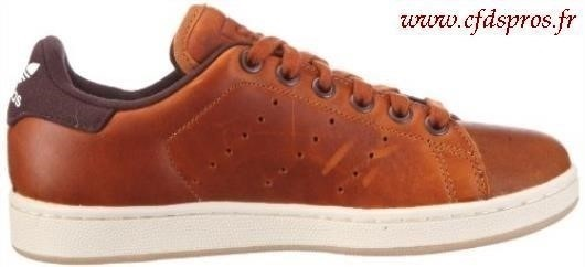 stan smith cuir marron homme